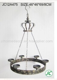 shabby chic metal candle holder