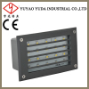 100 Die-cast aluminium led wall recessed light with cover
