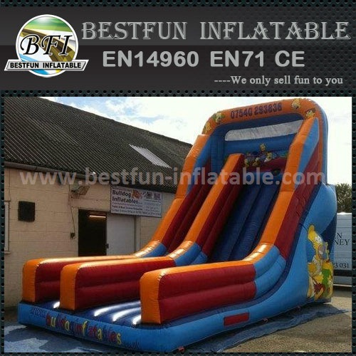 The Simpson slide europe inflatables