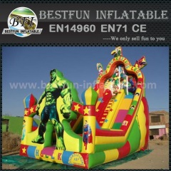 PVC the hulk inflatable slide