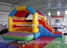 Funny Inflatable Combo Slide Bounce House / Moonwalk Bouncer For Playground