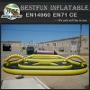 Portable inflatable zorb ball race track
