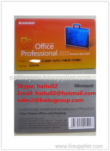 Good Reputation Seller Office Professional 2010 Product Key Card Lenovo