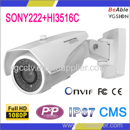 SONY222 2.0 Megapixel IP67 Waterproof Metal case IP Camera
