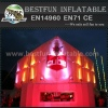 Inflatable lighting tent for exhibition