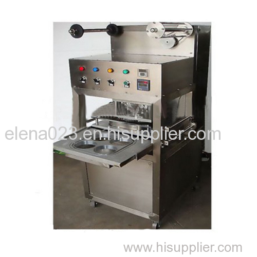 KIS-1 Table Type Semi Automatic Tray/cup Sealing Machine with gas filling and expiration date printer