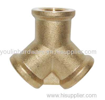 Brass forged 3 way adapter