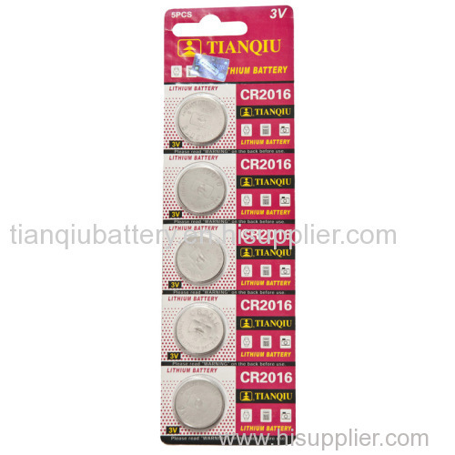 TIANQIU brand lithium button cell battery
