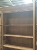 Double glass door old fir bookcase