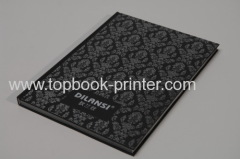 Silver stamping linen+greyboard design cover section sewn binding hardcover or hardback book printing