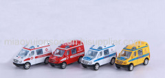 Pull back die cast ambulance toys car
