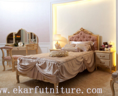 King Beds classic bed royal luxury bed solid wood bed supplier Italy style