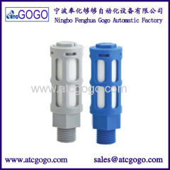 high quality plastic muffler M5 rubber flexible 1/8 pipe connector 1/4 pipe fitting mould 3/8