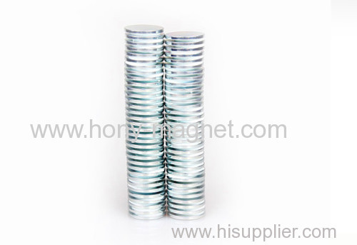 N40 Nickel Plated Permanent Neodymium Magnet Disc