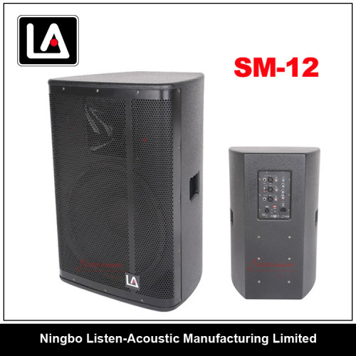 12inch full range active/passive wooden speaker cabinet