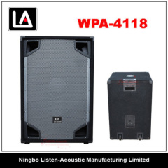18inch Subwoofer Wooden Case Speakers Boxes WPA - 4118