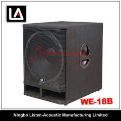 professional wooden Subwoofer speaker Cabinet WE - 18B