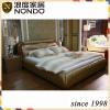 Furniture bed double size leather bed