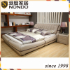 Morden bedroom furniture doube leather bed