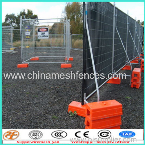 2.4x2.1M Hot Dipped Galvanized Temporary Fence with fence Clamps Sales
