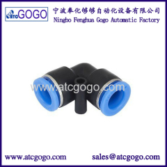 V type 10mm tube fitting for pu hose 12mm plastic gas connector 6mm 8mm pipe joint