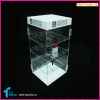 Custom 4 Tire Locking Countertop Supper Clear Acrylic E liquid Display Stand
