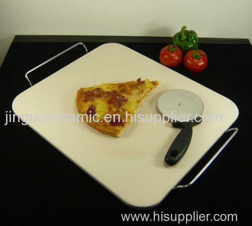 Ceramic square pizza stone