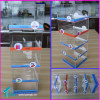 Wholesale 5-tier Counter Top Clear Plexiglass iphone Chargers Holder Stand Acrylic Cell Phone Accessories Display Case