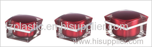 plastic cream jar for cosmetic packaging and empty plastic bottle