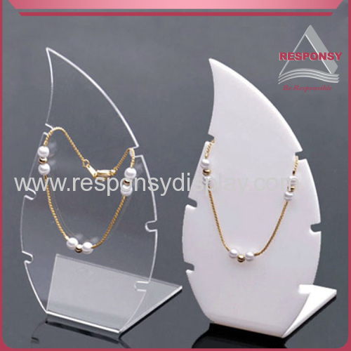Newest fashion custom counter acrylic jewelry necklace display stand