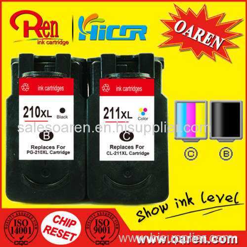 for Canon PG-210 CL-211 Ink Cartridge reset circuit show ink level