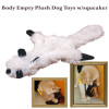 Cute Dog body empty plush toy with squeaker