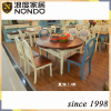Oval shape wood dining table