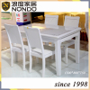 French louis white dining table
