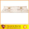 wholesale cheap price double sink cultured marble bathroom vanity tops high qulity for sale