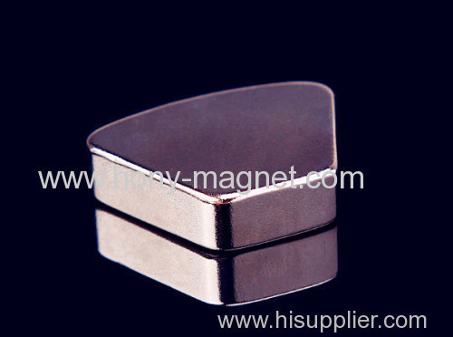 Large Block Sintered NdFeB Magnet with Countersink