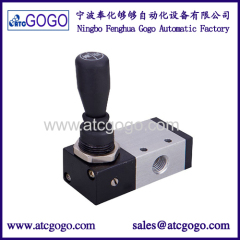 3 way manual valve mechanical lock and spring loaded rebound hand pull valve