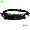 Neoprene Hydration Belt with Phone Pouch and Double Water Bottle Holder