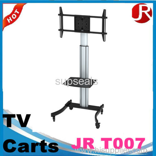 Can be rotated with caster child TV video conferencing mobile carts