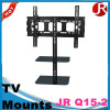 32-65 inch modern tv stand black glass tv table