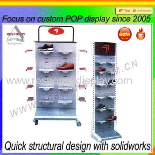 2015 Hot Sale Retail Store/Supermarket Shoe Display Rack