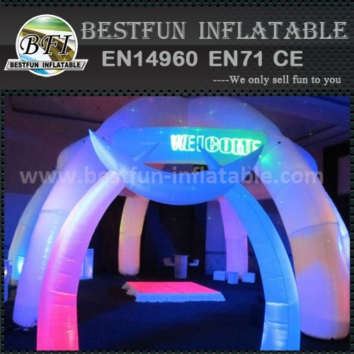 Colorful inflatable led light advertising inflatable entrance arch