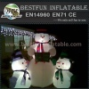 Giant inflatable snowman with colorful led