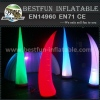 Indoor and outdoor inflatable illuminating LED cone
