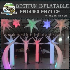 Indoor inflatable decorative wedding lighting columns led lamp decor