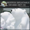 Inflatable advertising polar bear