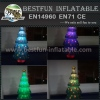 Inflatable christmas tree with led light