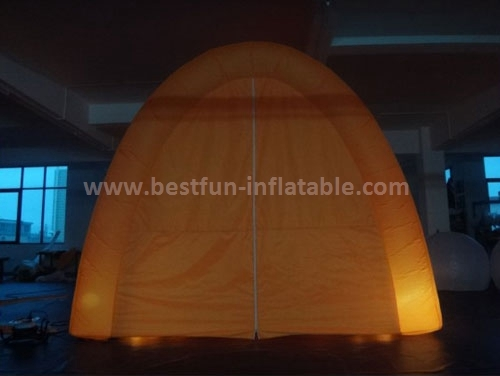 Color changing LED lighting inflatable photo booth