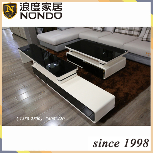 Modern design black top TV-stand