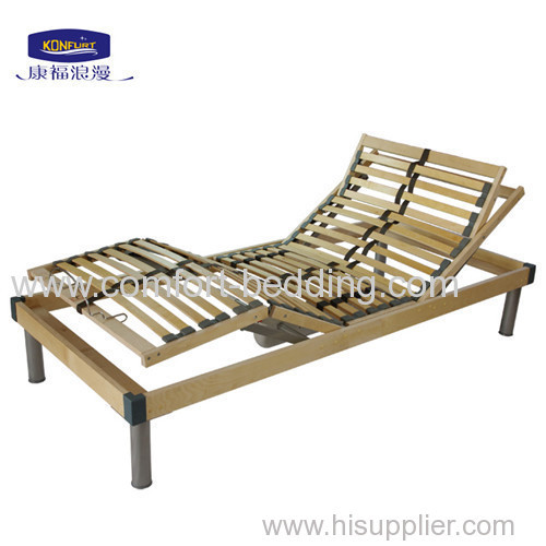 Birch wood home electric adjustable bed